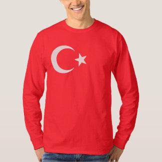 Camiseta Lua crescente e estrela da bandeira turca