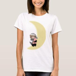 Camiseta Lua do crescente do urso do sono