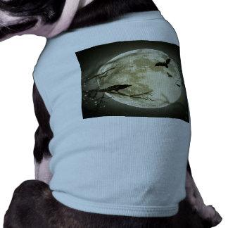 Camiseta Lua do Dia das Bruxas - ilustração da Lua cheia