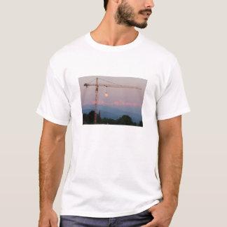 Camiseta Lua do guindaste de torre