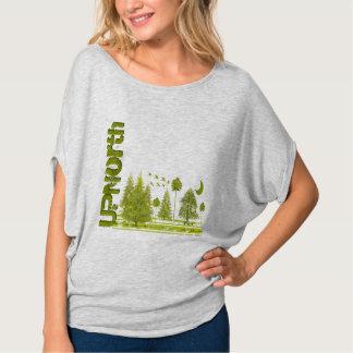 Camiseta Lua dos pinhos de UPNorth Grunged - acima dos