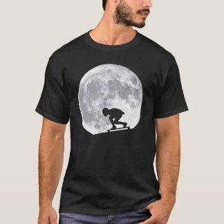 Camiseta Lua que longboarding