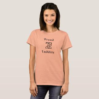 Camiseta Luddite orgulhoso com telefone Velho-Timey
