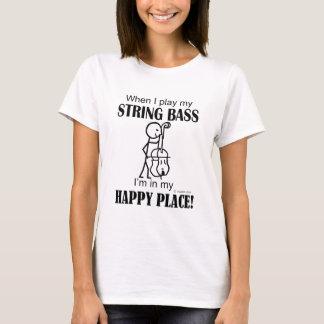 Camiseta Lugar feliz do baixo de corda