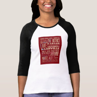 Camiseta Lugares famosos de Nashville, Tennessee.