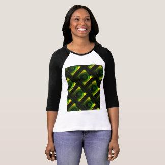 Camiseta Luminosidade verde de incandescência 3/4 de