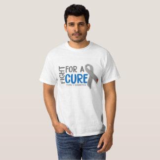 Camiseta Luta para uma cura para o tipo - 1 diabetes