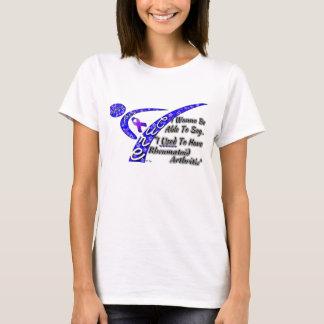 Camiseta Luta por um t-shirt da artrite reumatóide da cura
