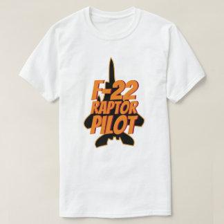 Camiseta Lutador de jato militar do piloto do raptor F-22