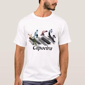 Camiseta lutadores cinzentos das artes marciais do capoeira