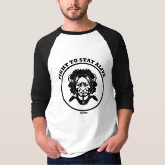 """Camiseta """"Lute PARA PERMANECER"""" o t-shirt preto VIVO da"""