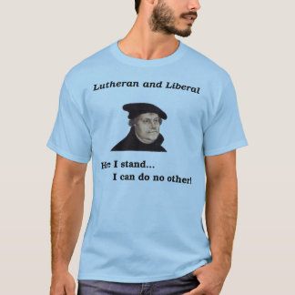 Camiseta Lutheran e t-shirt liberal