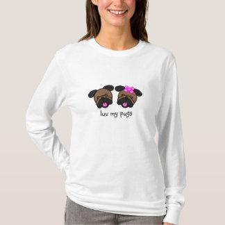 Camiseta luv meus pugs