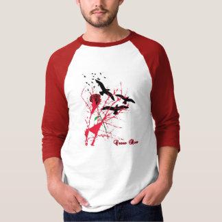 Camiseta Luva cor-de-rosa do corvo meia