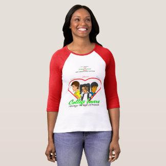 Camiseta Luva das canvas 3/4 de Bella dos amantes da