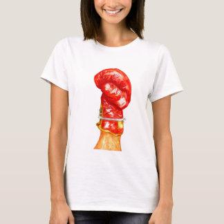 Camiseta Luva de encaixotamento vermelha