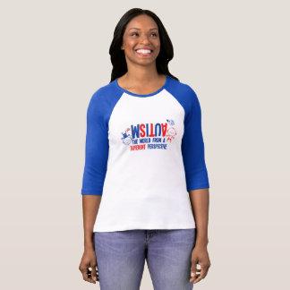 Camiseta Luva do ~ 3/4 do t-shirt da consciência do autismo