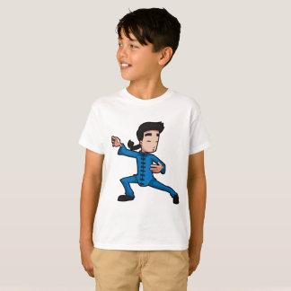 Camiseta Luva do Short do fu do kung do t-shirt do Hanes