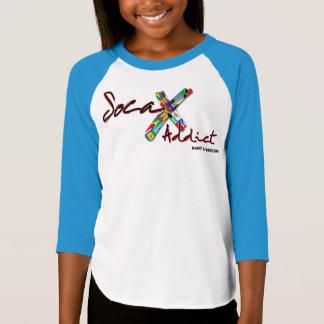 Camiseta Luva do viciado 3/4 do Soca da menina