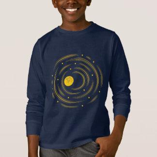 Camiseta Luva longa abstrata das estrelas do geek e dos