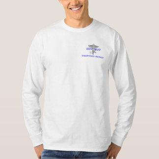 Camiseta Luva longa básica confortável, ocasional e fraca
