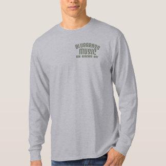 Camiseta Luva longa básica da música de Bluegrass