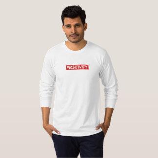 "Camiseta Luva longa branca de ""PØSITIVITY"""