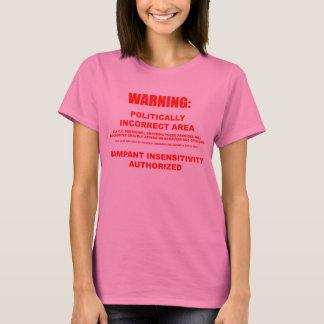 Camiseta Luva longa da área polìtica incorreta