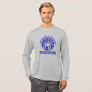 Camiseta Luva longa da bola de futebol da cara do tigre de