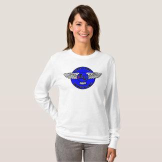Camiseta Luva longa da mulher do leste da luta do lago
