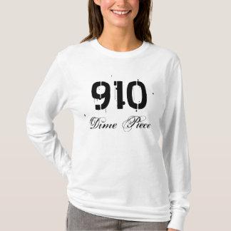 Camiseta Luva longa da parte de 910 moedas de dez centavos