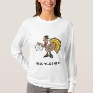 Camiseta Luva longa das senhoras - a acção de graças