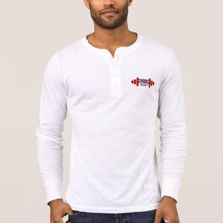 Camiseta Luva longa de Henley da malhação agradável