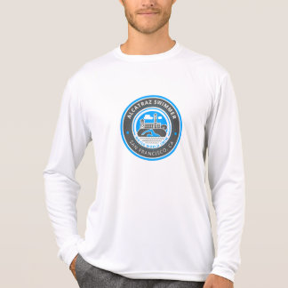 Camiseta Luva longa do Esporte-Tek dos homens do nadador de