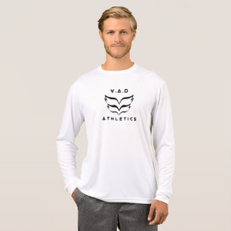 Camiseta Luva longa do logotipo do atletismo de 2018 V.A.D