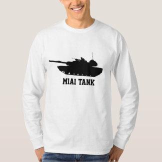 Camiseta Luva longa do preto do tanque M1A1