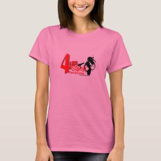 Camiseta luva longa do salão de beleza 4u2 (rosa)