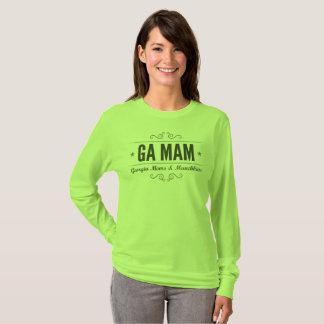 Camiseta Luva longa do verde da equipe de GA MAM