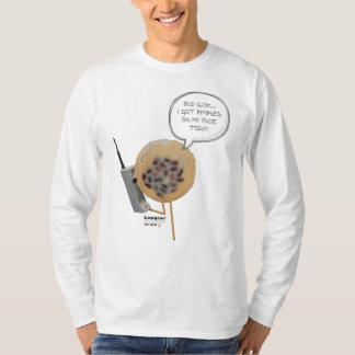 Camiseta Luva longa dos homens brancos do pudim | do feijão