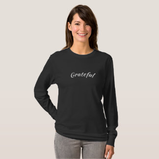 Camiseta Luva longa grata T - preto