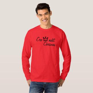 Camiseta Luva longa vermelha dos chrismas de Crowndit