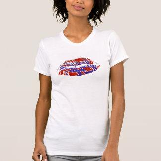 Camiseta Luva quente do boné do AA das senhoras dos lábios