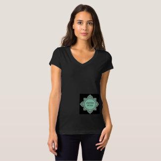 Camiseta Luva T do boné das mulheres negras básicas do
