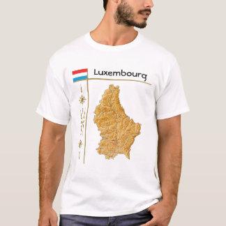 Camiseta Luxembourg traça + Bandeira + T-shirt do título