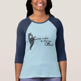 Camiseta Luz - cerâmica do azul & do marinho que joga 3/4