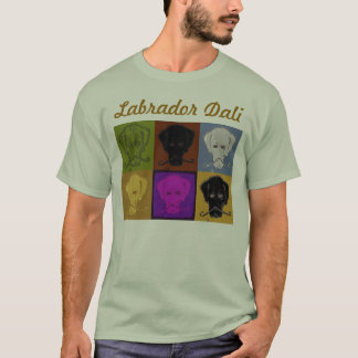 Camiseta Luz de logotipo do painel de Labrador Dali 6