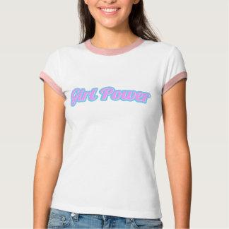 Camiseta Luz de poder da menina - rosa e luz - azul