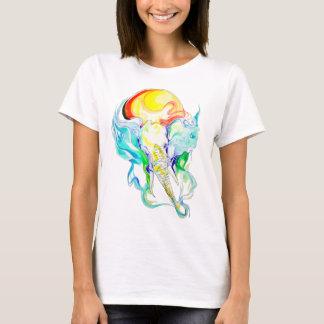 Camiseta luz do sol do elefante