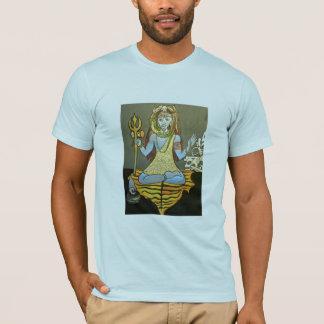 Camiseta Luz do T do Bhairava Shiva dos homens - azul