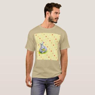 Camiseta Luz - t-shirt raro da aguarela amarela marrom do